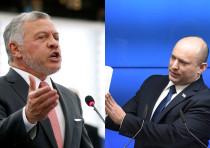 King of Jordan Abdullah II and Prime Minister Naftali Bennett.
