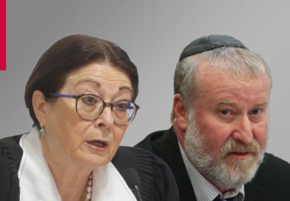 (L-R) Esther Hayut & Avichai Mandelblit