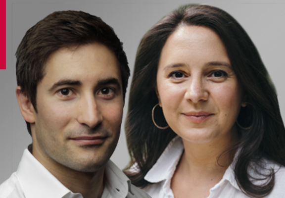 (L-R) Jonathan Swan and Bari Weiss (Photo credits: Courtesy/ Sam Bloom)