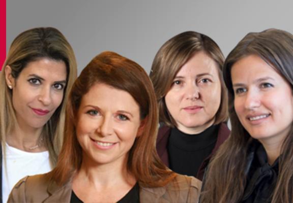 (L-R) Orit Hashay, Maya Gura, Hillary Harel and Inna Braverman
