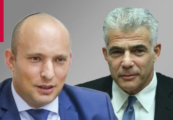 Naftali Bennett and Yair Lapid (Photo credit: MIS)