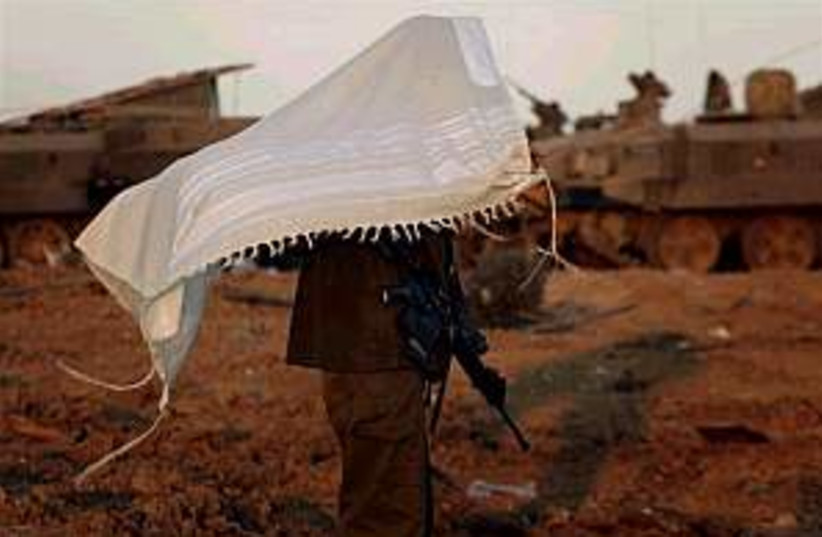 soldier talit 298 gaza a (photo credit: AP)
