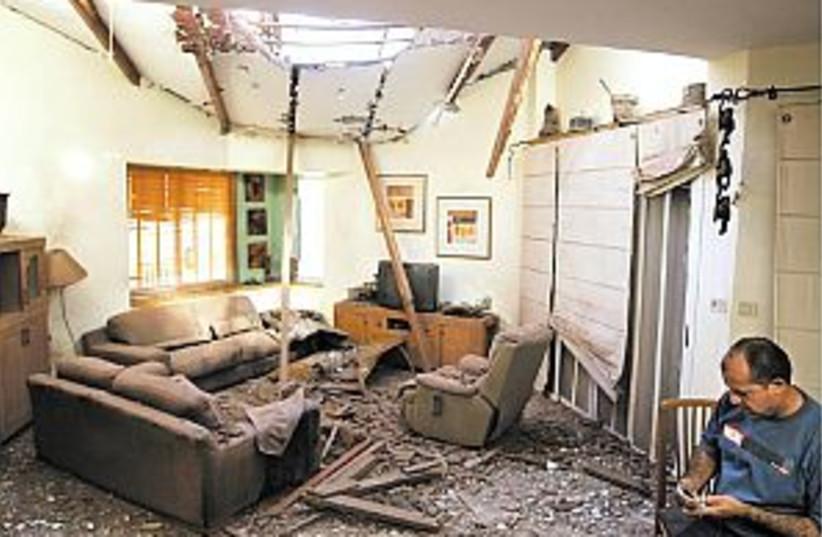 sderot kassam damage 298 (photo credit: AP [file])
