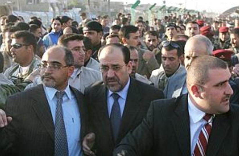 al-maliki in street 298  (photo credit: AP [file])