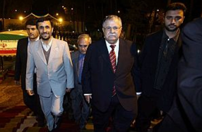 ahmadinejad talabani  (photo credit: AP)