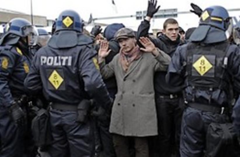 climate protest arrest denmark 248 88 (photo credit: )