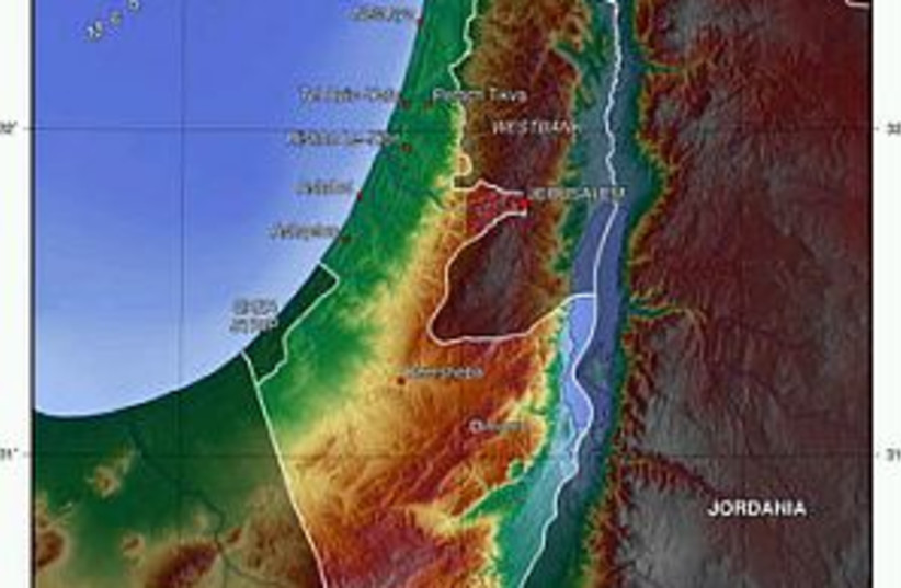 israel topo map 298.88 (photo credit: Courtesy)