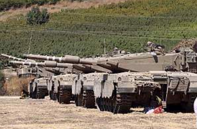 tanks lined up 298.88 (photo credit: Ariel Jerozolimski)