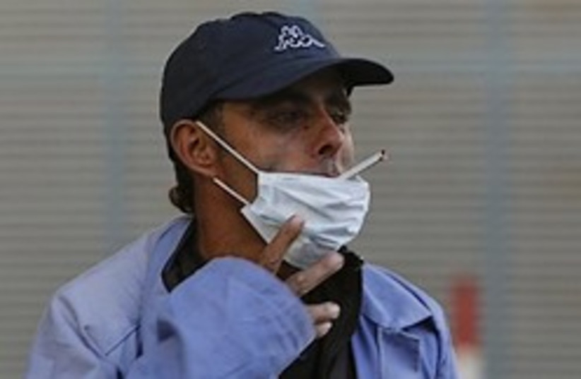 Gaza swine flu (photo credit: AP)