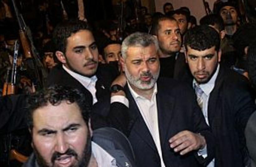 haniyeh bodyguards 298.8 (photo credit: AP)