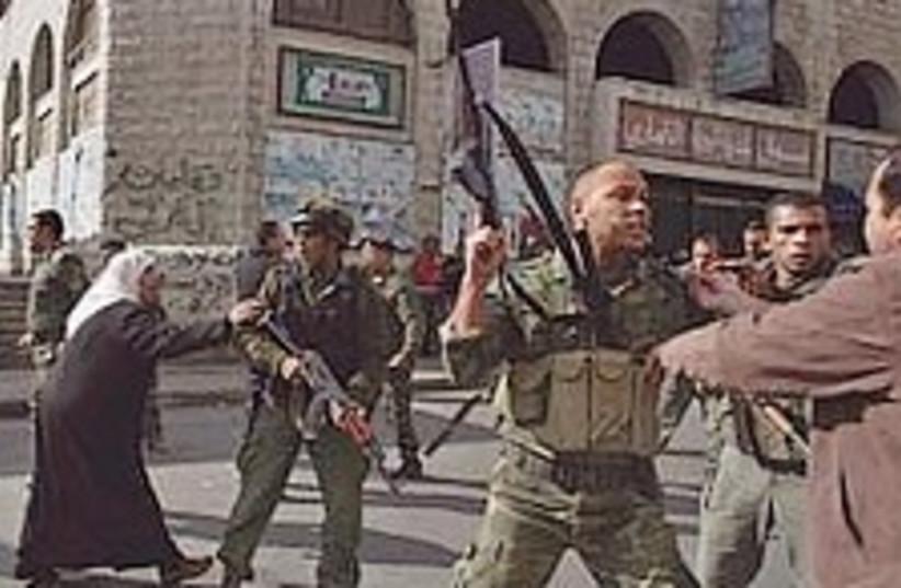 fatah hamas clashes 298. (photo credit: AP)