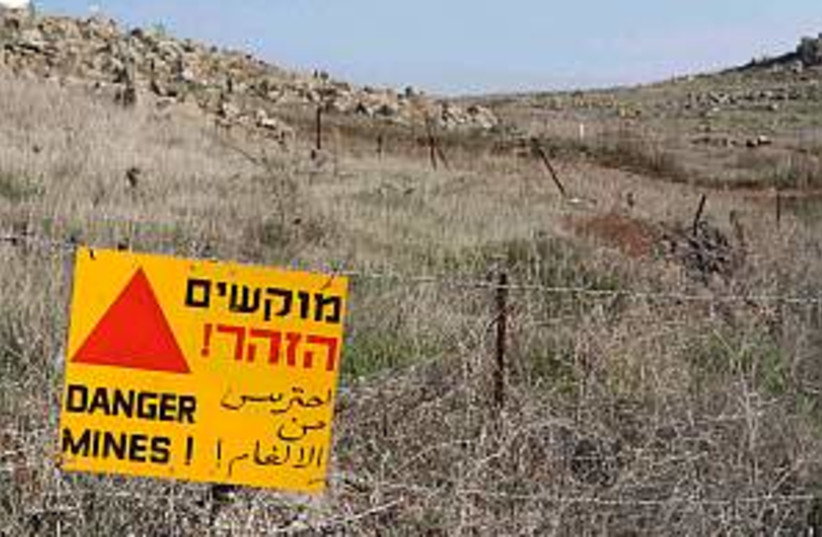 golan mine field 298.88 (photo credit: Ariel Jerozolimski)