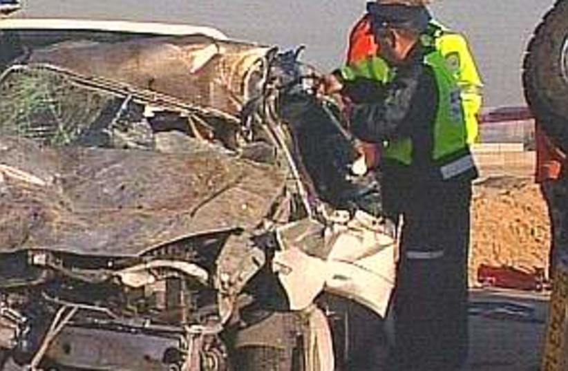car crash police 298.88 (photo credit: Channel 10)