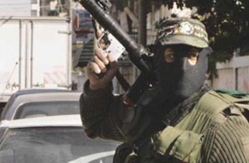 gunman hamas 88 298 (photo credit: AP [file])