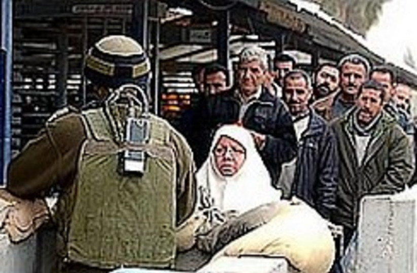 Nablus checkpoint 248.88 (photo credit: Ariel Jerozolimski [file])