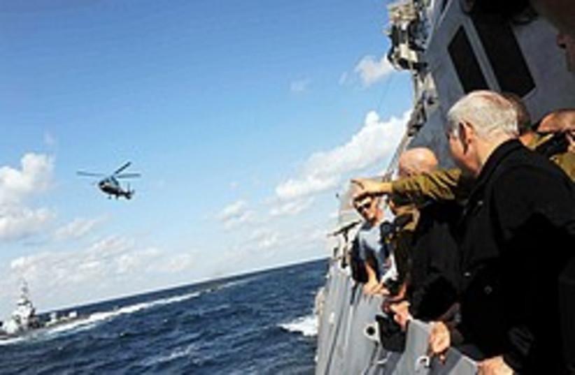 netanyahu navy tour 248 88 gpo (photo credit: GPO)
