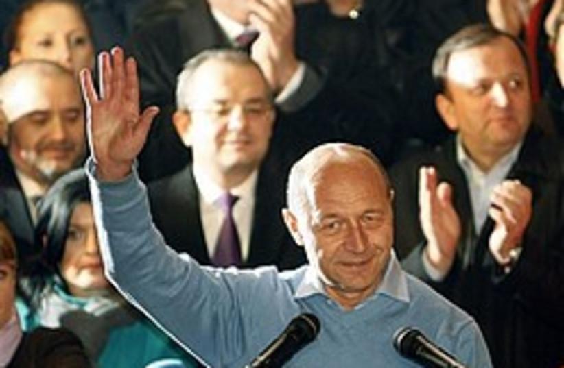 Traian Basescu 248 88 ap (photo credit: AP)