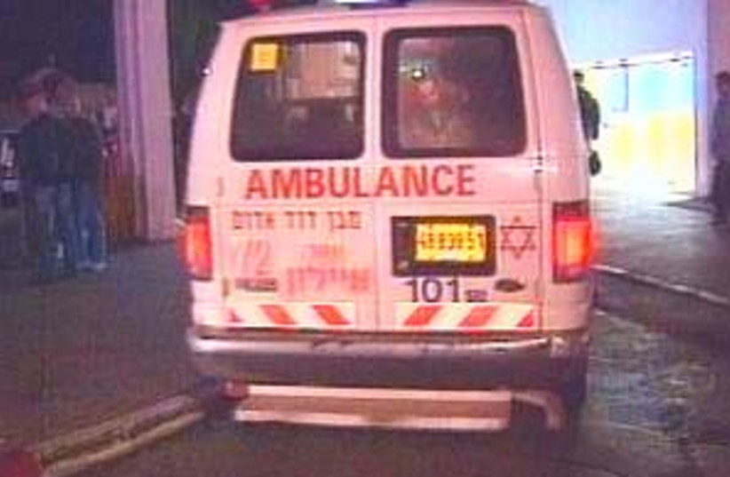 Ambulance 298.88 (photo credit: Channel 2)