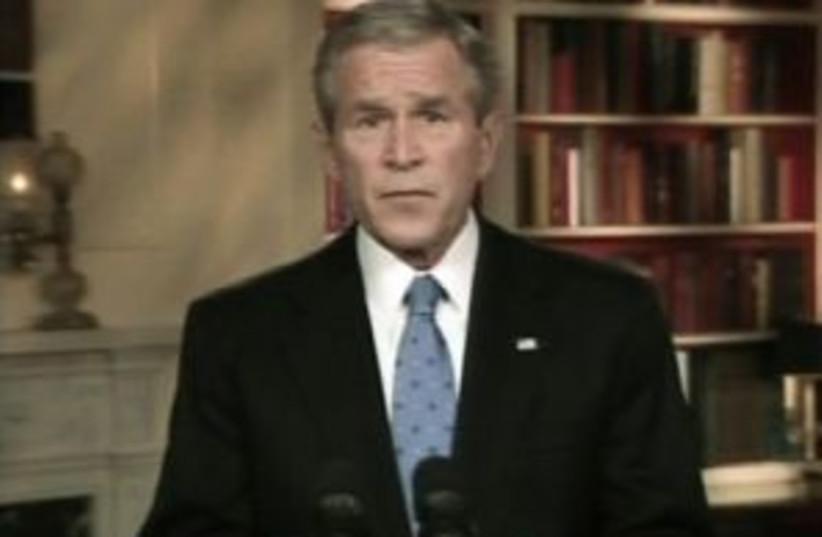 bush speech 298.88 (photo credit: AP Photo/APTN)