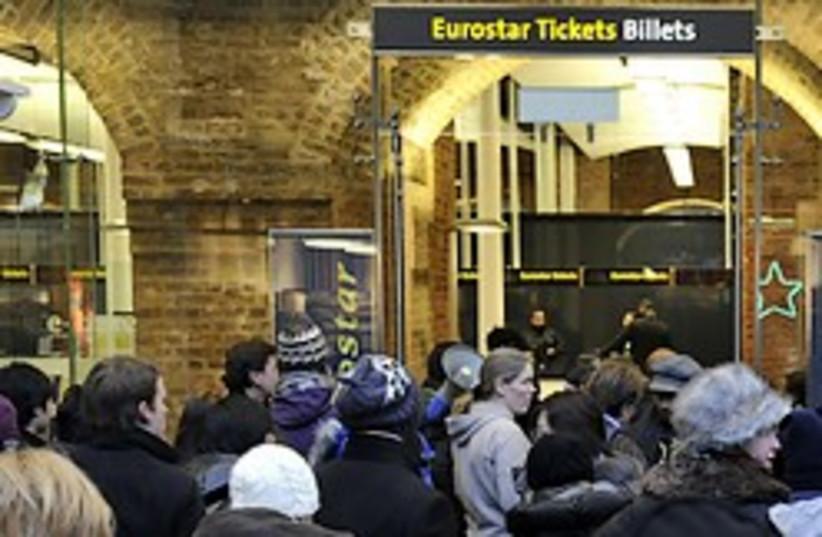 eurostar train delay 248.88 AP (photo credit: )