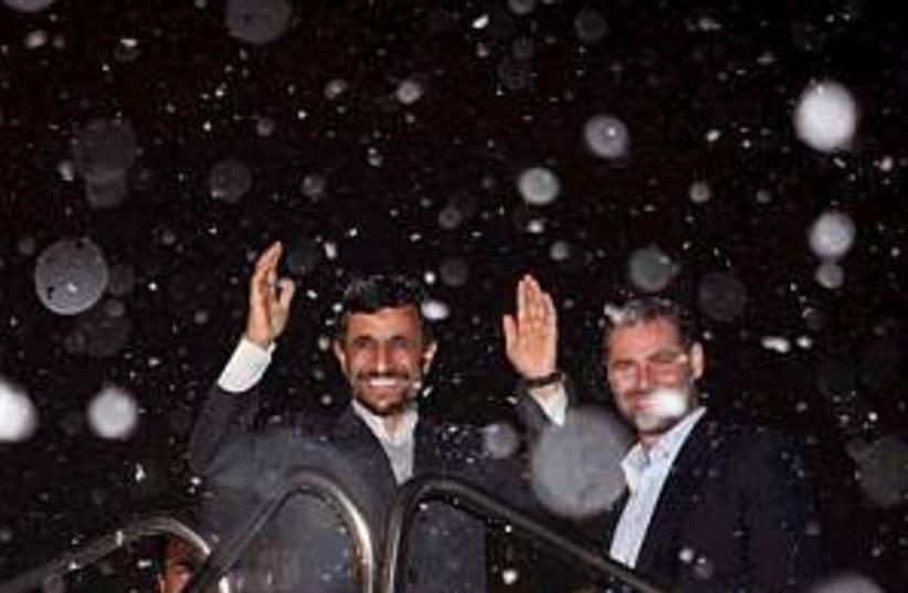 ahmadinejad snow 298 (photo credit: AP)