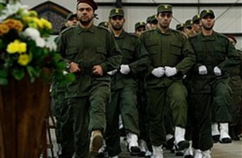 Hizbullah members parade 248.88 (photo credit: )