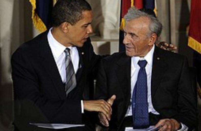 Obama wiesel 248 88 ap (photo credit: AP)