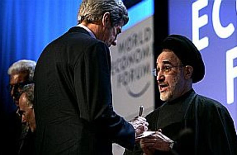 khatami world conference (photo credit: AP)