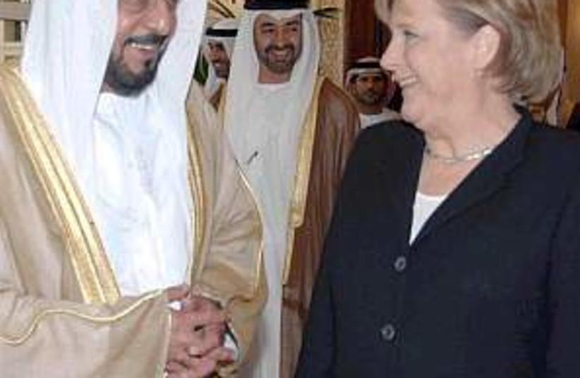 merkel UAE 298.88 (photo credit: AP)