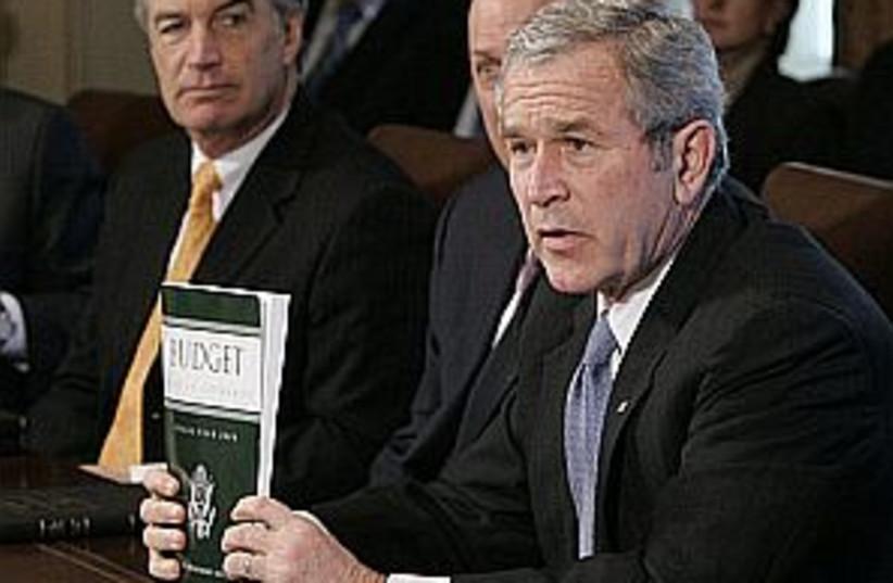 bush budget 298.88 (photo credit: AP)