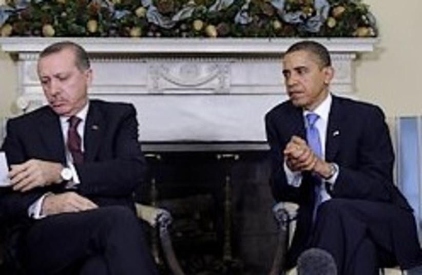 Obama and Erdogan 248x88 AP (photo credit: )