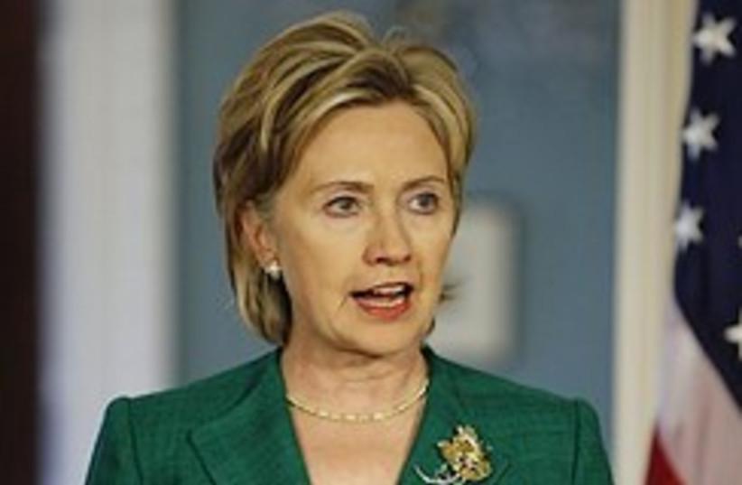 US Secretary of State Hillary Rodham Clinton. (photo credit: AP)