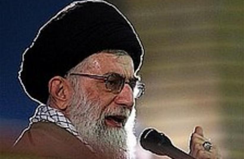 khamenei the boss!! (photo credit: AP)