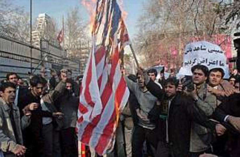 iran us flag 298.88 (photo credit: AP)