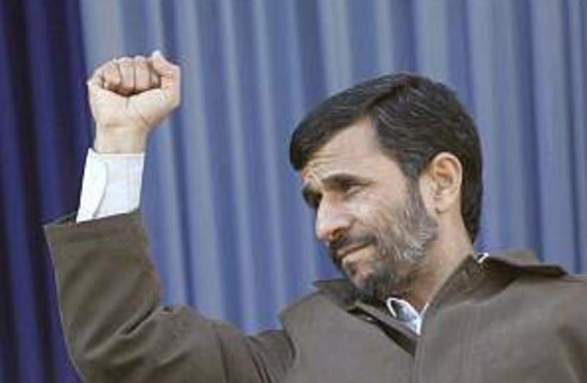Ahmadinejad defiant 298. (photo credit: AP)