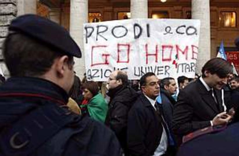 prodi protest 298.88 (photo credit: AP)