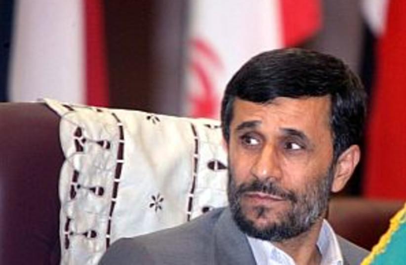 ahmadinejad worried 298. (photo credit: AP)