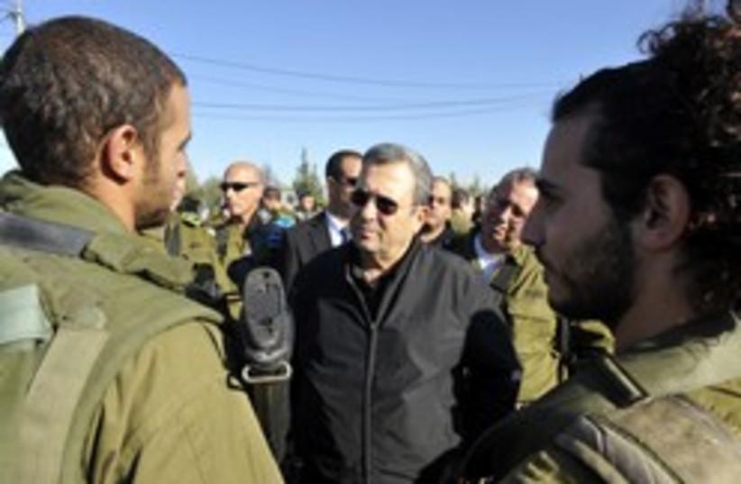 ehud barak judea and samaria soldiers (photo credit: Defense Ministry )