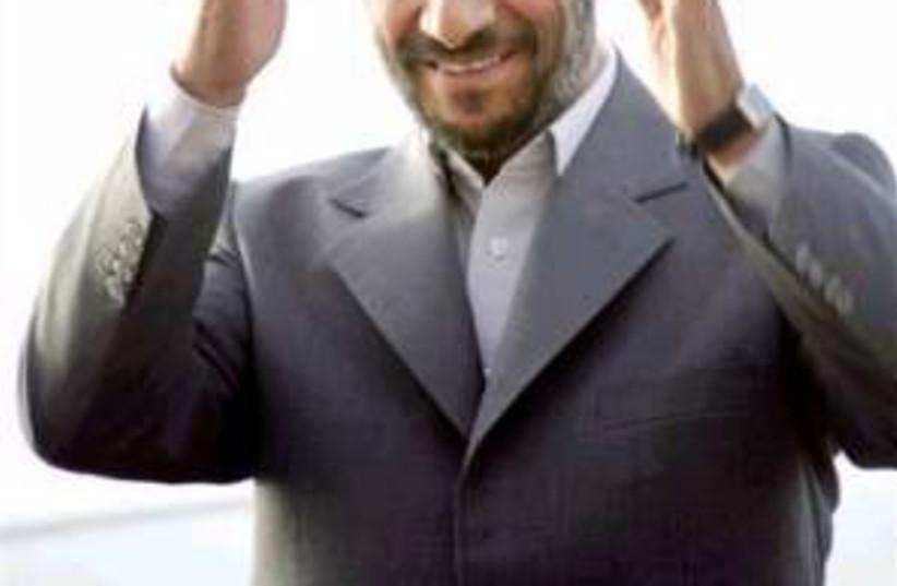 ahamdinejad the boss (photo credit: AP)