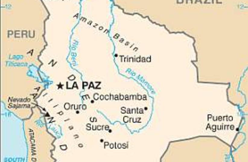 bolivia map 298.88 (photo credit: Courtesy)
