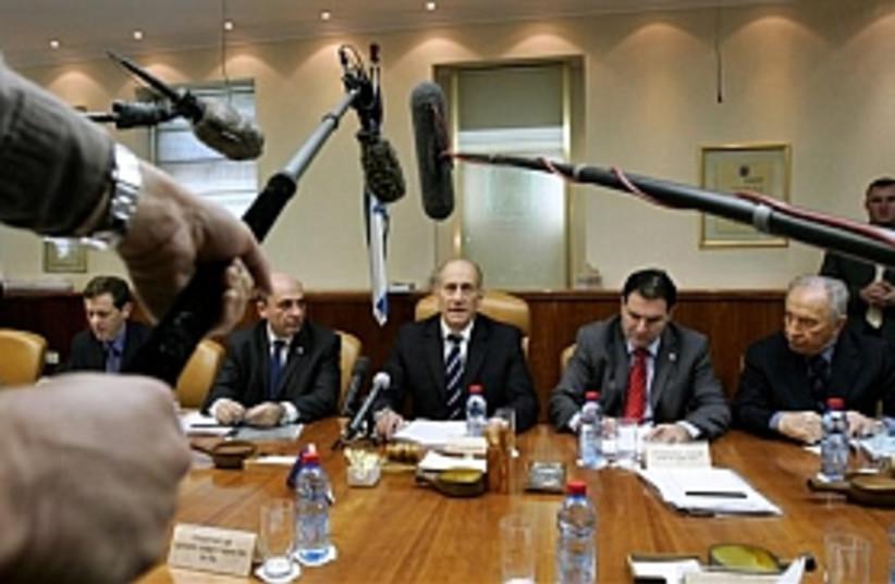 olmert cabinet 298.88 (photo credit: AP [file])