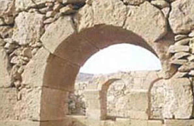 nabataean city 298 (photo credit: Israel National Parks Authority)