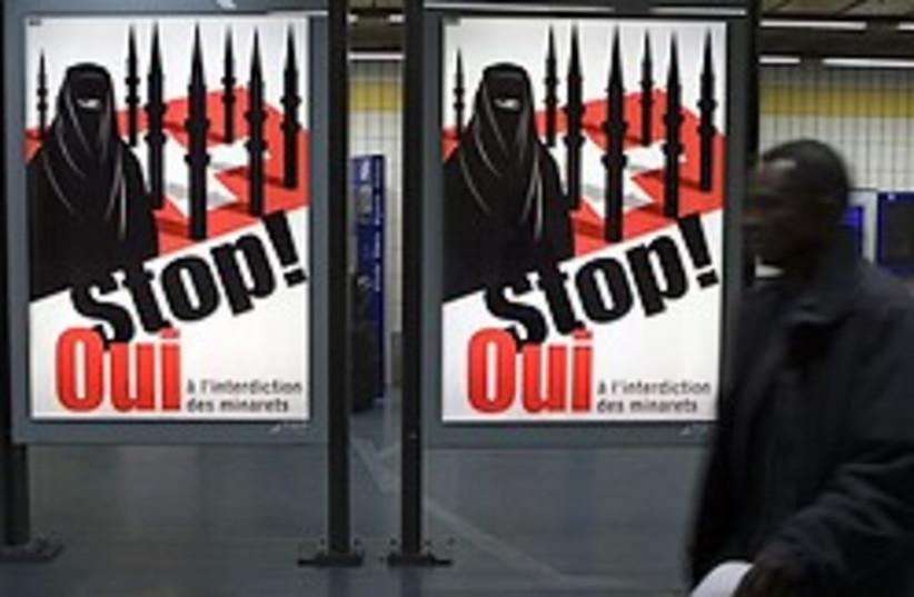 Swiss anti-minaret campaign (photo credit: AP)