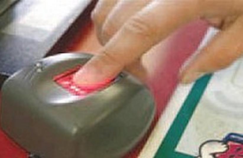 biometric fingerprint 248.88 (photo credit: )