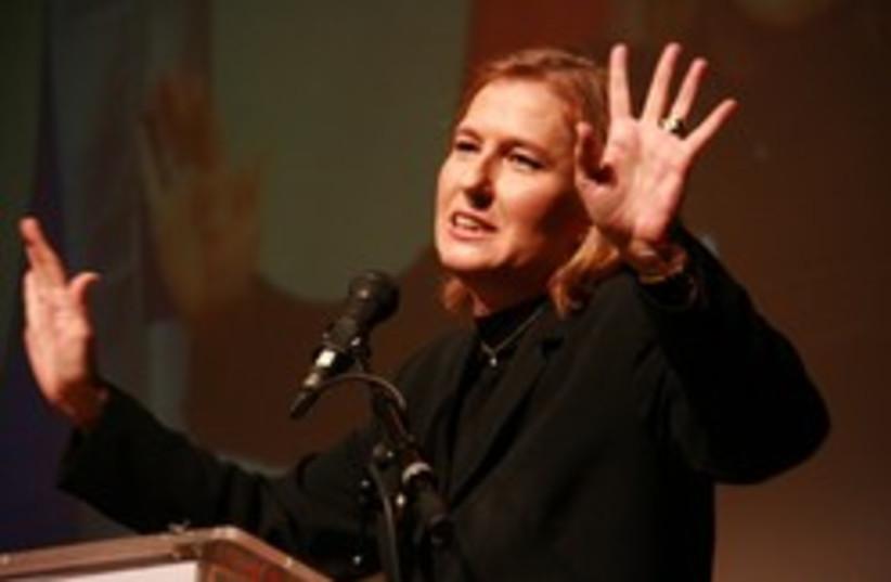 livni how many fingers (photo credit: Kadima )