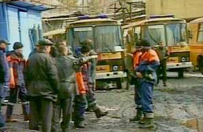 russia mine blast 298.88 (photo credit: Associated Press/RTR RUSSIAN CHANNEL)