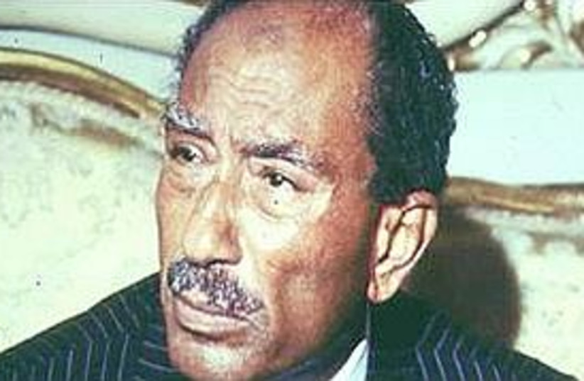 Anwar Sadat (photo credit: AP)
