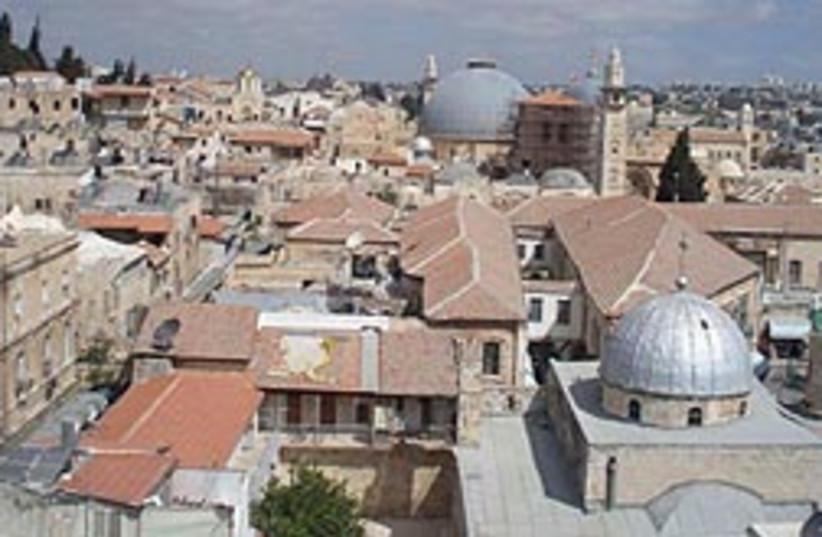 Jaffa Gate via the Ben Hinnom Valley (photo credit: ESTI KELLER)