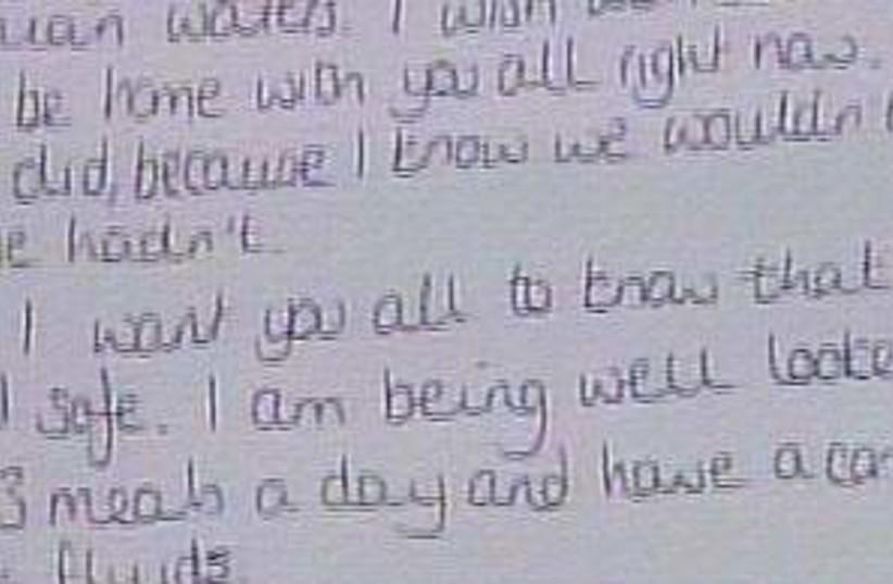 Faye Turner letter 298 (photo credit: Channel 2)