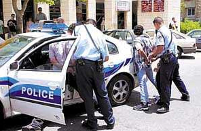 youth arrest 298.88 (photo credit: Ariel Jerozolimski)
